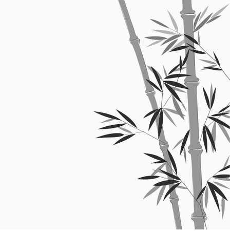 Bamboo in Chinese painting style Vector