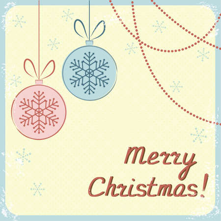 Christmas greeting card in vintage style Vector