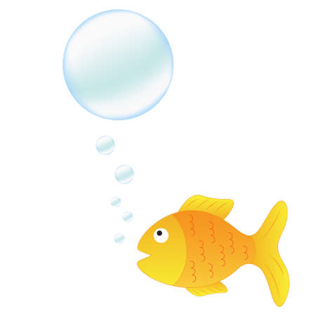 air bubbles: Talking fish with bubbles for your text