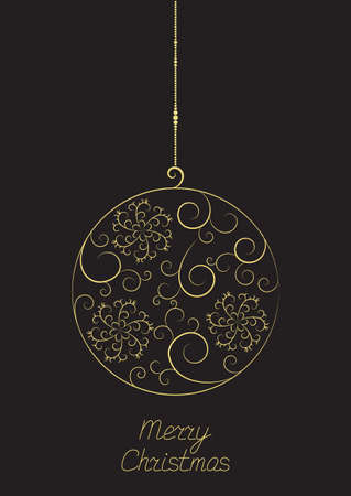 Elegant Christmas ball with floral pattern Vector