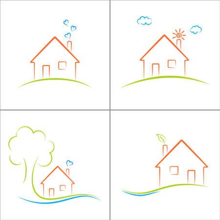 Ecohuis icons set