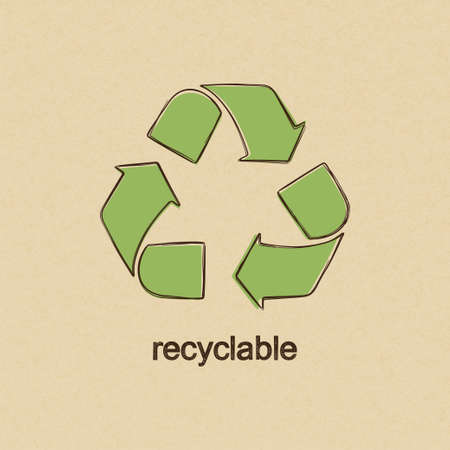 recycle reduce reuse: Recicle la muestra en el estilo de dibujo sobre cart�n de papel de fondo Vectores