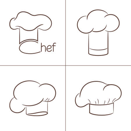 Set of chef s hats for your design