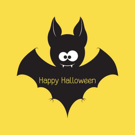 vampire cartoon: Funny Halloween vampire bat