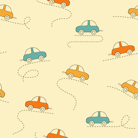 kiddy: Seamless pattern with cars