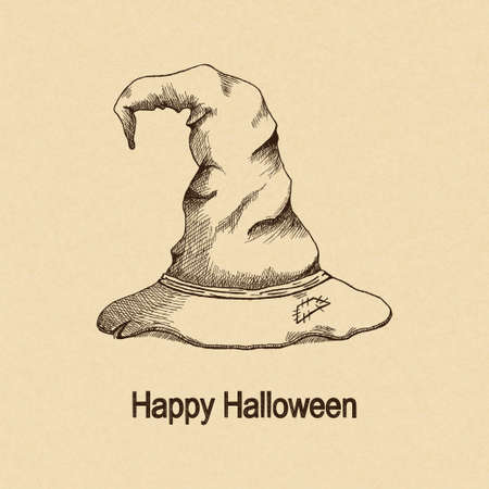witch hat: Hand drawn witch hat for Halloween design