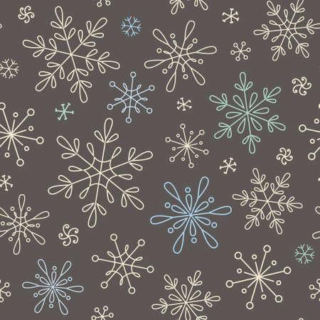 schneeflocke: Nahtloser Hintergrund mit Schneeflocken für Weihnachten, Neujahr und Winter-Design Illustration
