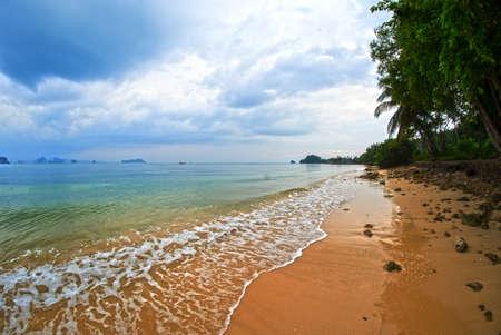 Beautiful clean lonely beach in Koh Yao Noi, Thailand, Asia - Klong Jark Beach Standard-Bild