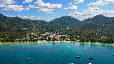 Koh Tao Thailand Aerial Image of Sairee Beach