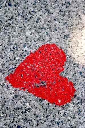 Love printed on ground