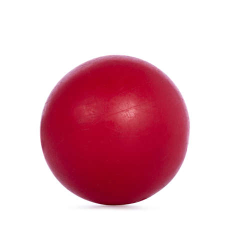 Close up studio shot of pain red ball, isolated on white background. Stock fotó