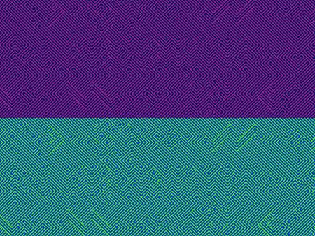 optical illusion of a maze