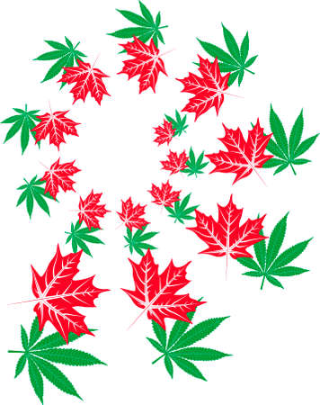 Maple and marijuana spiral