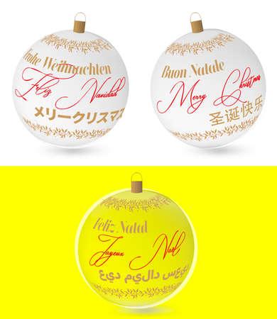 Multilingual glass spheres