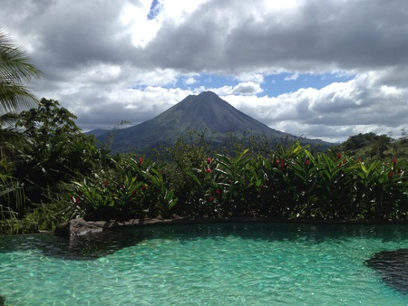 View of Arenal Volcano in La Fortuna Costa Rica