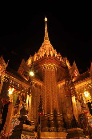 pyre: Royal funeral pray at Sanam Luang At night, Thailand .