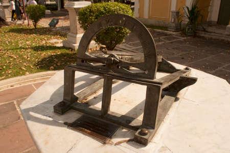 sundial: Sundial located in Wat Niwet Thammaprewat Thailand
