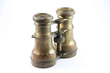 antique binoculars: Antique binoculars on a white background