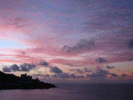 SE アジアの夕日 写真素材