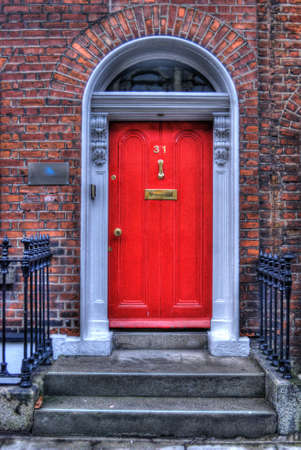 Red Dublin Ireland Door Stock Photo - 17381684