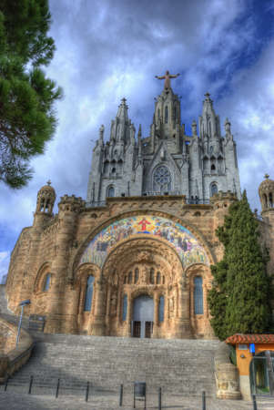 cor: Sagrat Cor, Church of the Sacred Heart of Jesus, Barcelona, Spain Stock Photo