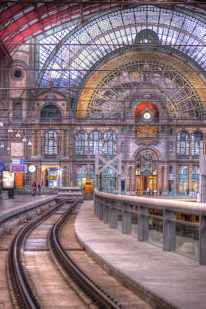 neo classical: Antwerp Central Railway Station Editorial