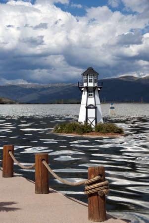 lake dillon: Lighthouse in Lake Dillon, Frisco, Colorado Stock Photo