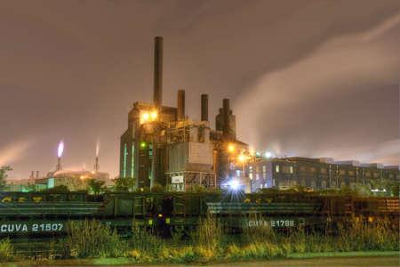 steel: Steel Mill at Night