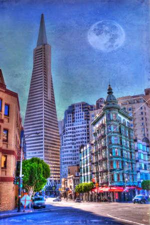 transamerica: San Francisco Transamerica Pyramid and Columbus Tower view From North Beach