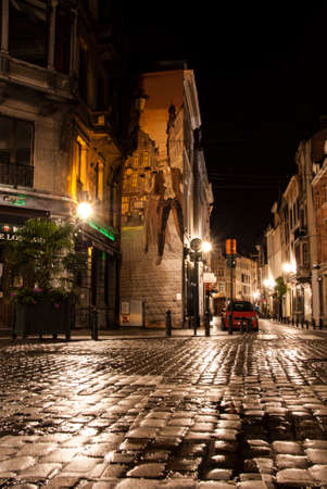 Brussels, Belgium at Night photo