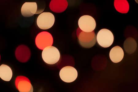 seasonal light display: Red and White Bokeh Lights