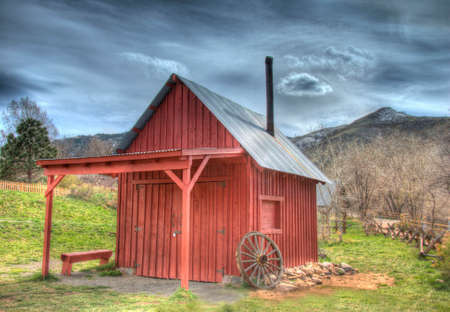 blacksmith shop: Blacksmith Shop, Clear Creek Historical Park, Golden, Colorado, USA