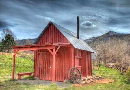 blacksmith shop: Blacksmith Shop, Clear Creek Historical Park, Golden, Colorado, USA