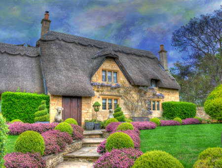 cotswold: English Country Cottage Editorial