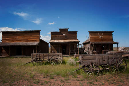 Old Trail Town, Wyoming, Ghost Town Stock Photo