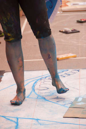 barefooted: Barefooted Chalk Artist