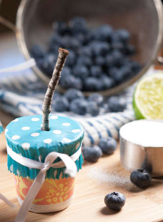 popsicles: Making Blueberry Popsicles