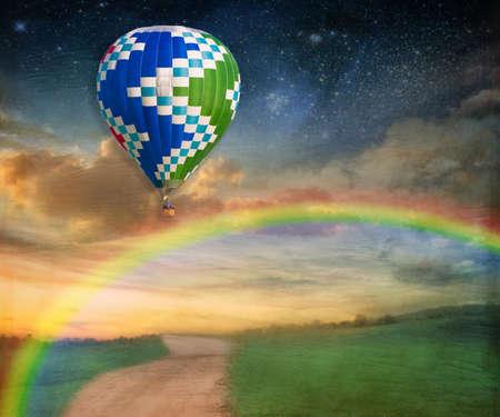 photomanipulation: Somewhere Over the Rainbow