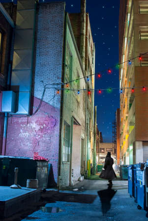 Mysterious Downtown City Alleyway
