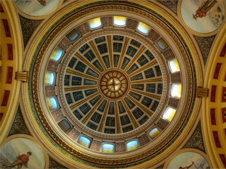 Montanta State Capitol building, Inside of the Rotunda dome