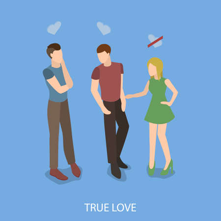 LGBT community is gay, real love in isometric illustration.