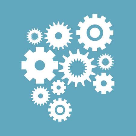 Cogwheel gear mechanism settings icon