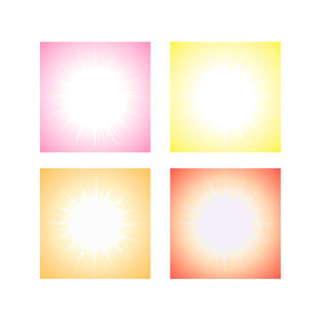 Beautiful abstract starburst background vector illustration art. Set of object