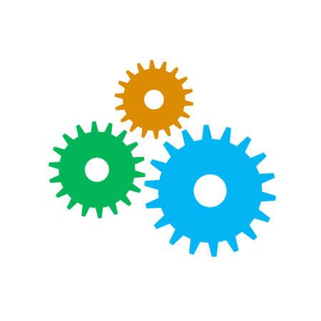 Cogwheel gear mechanism vector settings vector icon Illustration