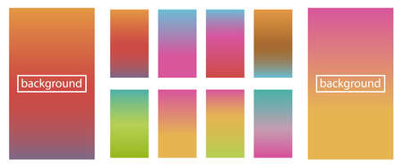 Collection of gradient and backgrounds for design vector illustration concept Illustration