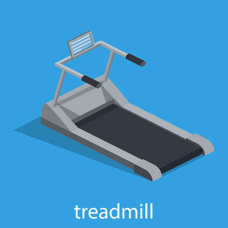 Isometric 3D vector illustration Treadmill for sports