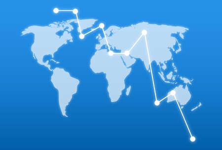 Flat vector illustration Map for logistics deliveries and cargo transportation