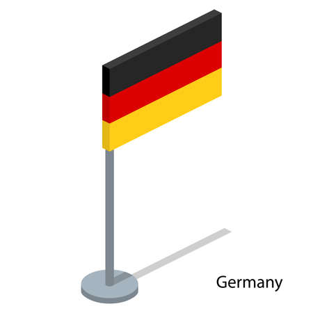 Isometric 3D vector illustration flags of countries collection. Flag of Germany