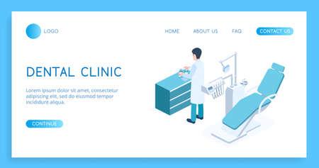 Modern concept Dental Clinic vector isometric illustration.