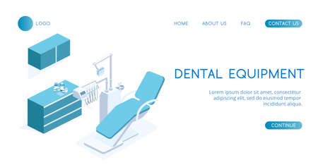 Modern concept Dental Equipment vector isometric illustration. Illustration